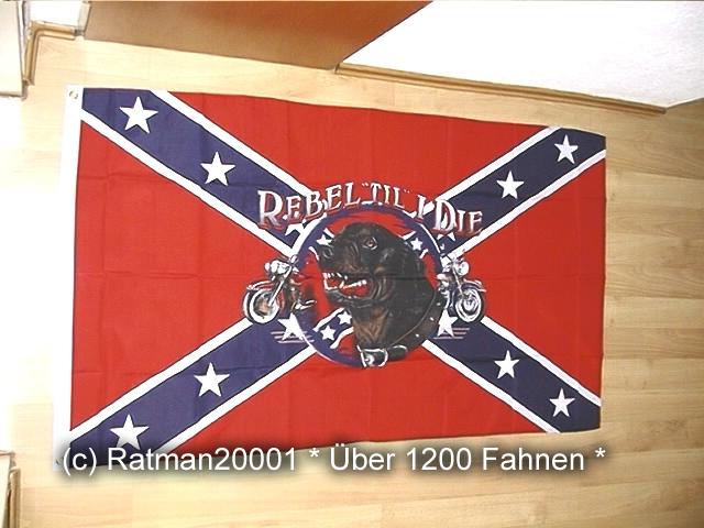 Südstaaten Rebel TIL I DIE - 90 x 150 cm
