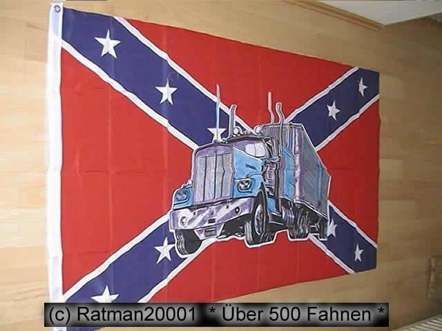 Südstaaten Rebel mit Truck - 90 x 150 cm