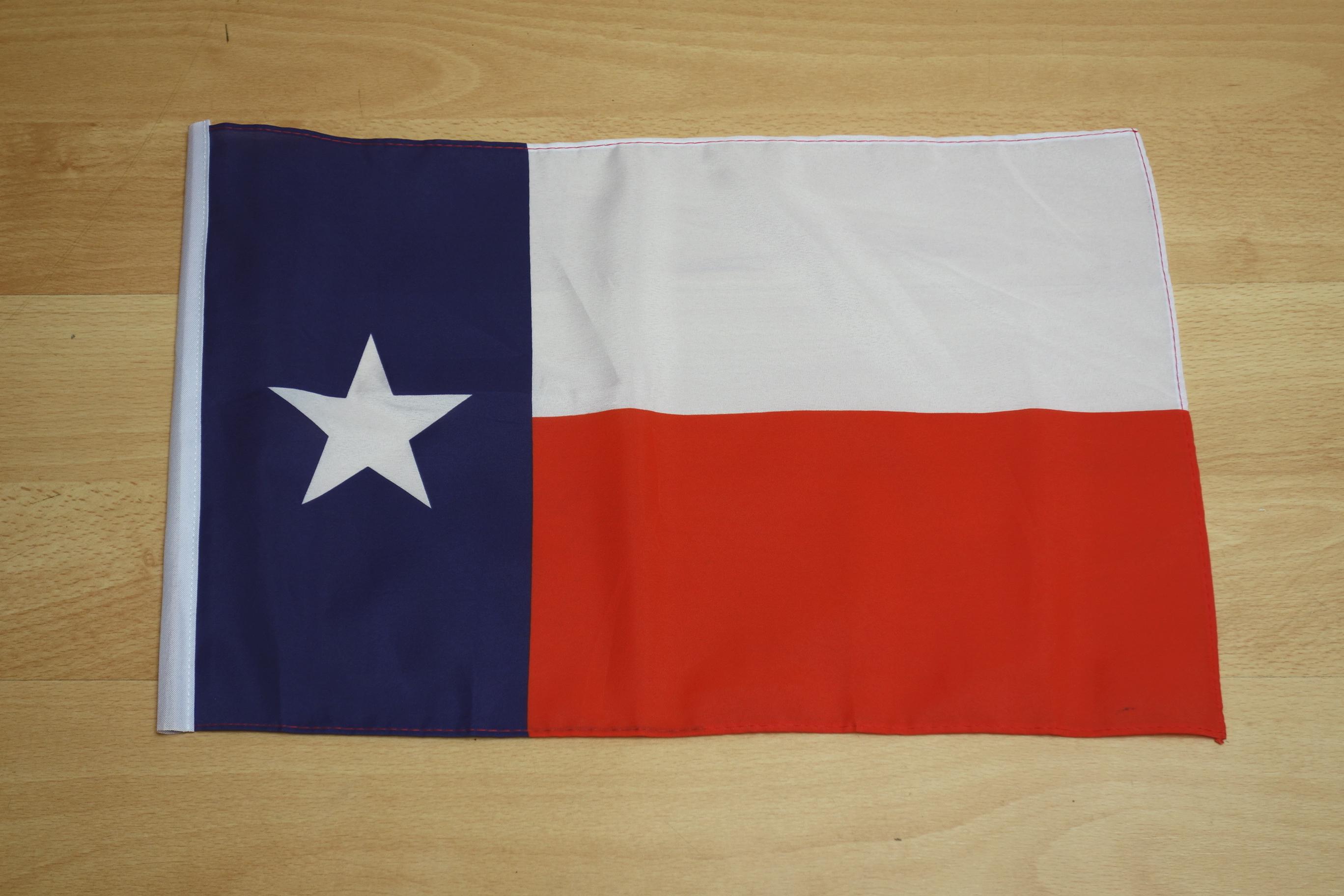 Texas Stockfahne mit Hohlsaum - 30 x 45 cm