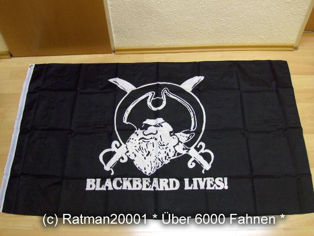 Totenkopf Blackbeard - 90 x 150 cm