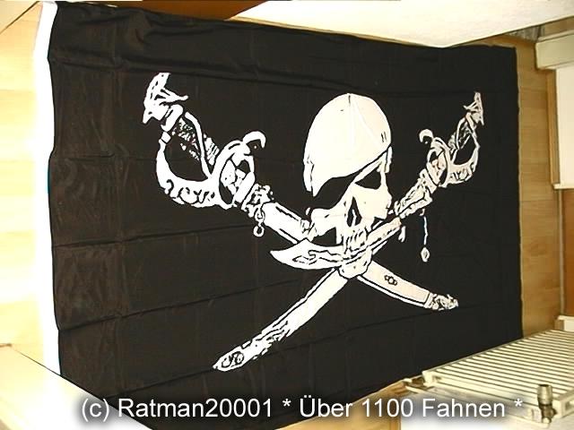 Pirat Totenkopf Sebel - 1 - 150 x 250 cm