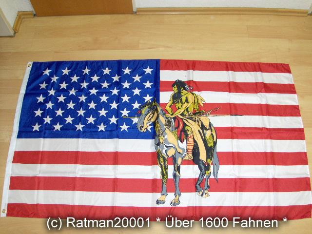 USA Pferd Indianer Neu - 90 x 150 cm