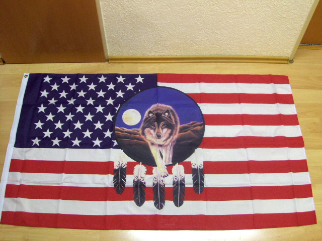 USA Wolf Dreamcatcher- 90 x 150 cm