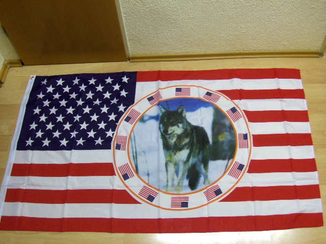 USA Wolf Neu - 90 x 150 cm