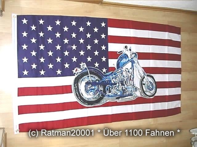 USA mit  Harley - 90 x 150 cm