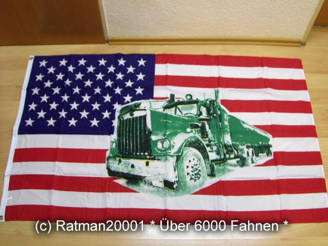 USA mit Truck. - 90 x 150 cm