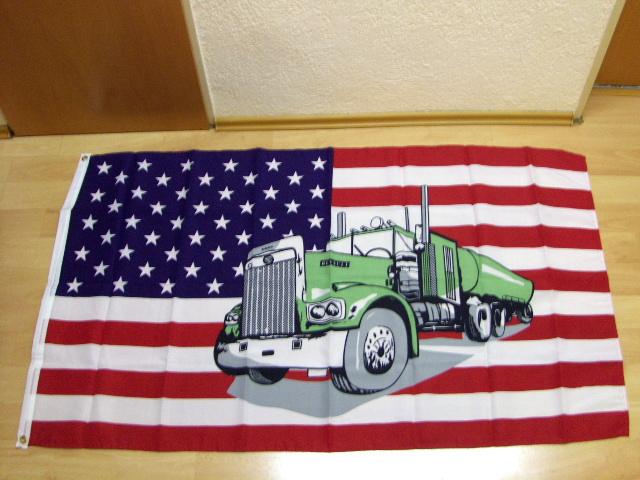 USA mit Truck 2. Sonderposten - 90 x 150 cm