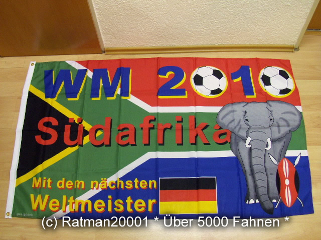 Fussball WM 2010 Fan - 90 x 150 cm