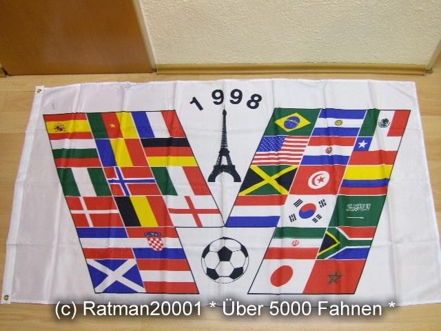 Fussball WM 1998 - 90 x 150 cm