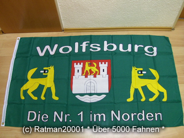 Wolfsburg Fan Die NR.1 im Norden - 90 x 150 cm