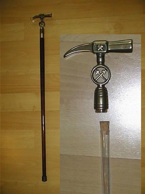 Wunderschöner Spazierstock Griff Hammer